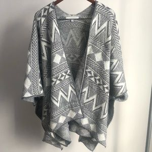 Oversized Cardigan/Poncho with Dolman Sleeves